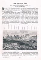 573 Hans Forcher-Mayr Schlern Sella Sektion Bozen Artikel Mit 7 Bildern 1904 !! - Italia
