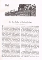 577 Reschreiter Sabiner Gebirge Monti Sabini Artikel Mit 6 Bildern 1906 !! - Libri, Riviste, Fumetti