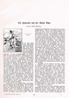 578 Plass Seiser Alpe Alpe Di Siusi Heuernte Artikel Mit 5 Bildern 1906 !! - Libri, Riviste, Fumetti