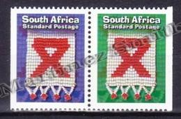 South Africa - Afrique Du Sud - Africa Sur  1999 Yvert 1056 - 57, Fight Against SIDA - MNH - South Africa (1961-...)
