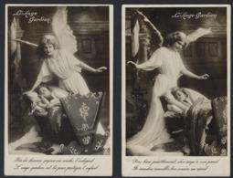 L ANGE GARDIEN ET ENFANT * 2 X * GARDIEN ANGEL AND CHILD * SCHUTZENGEL UND KIND * 2 SCANS - Anges