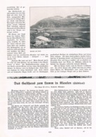 583-2 Hugo Steffen Klausen Gasthaus Lamm Artikel Mit 6 Bildern 1908 !! - Italy