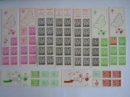 België Belgique 9 Postzegelboekje Carnet Boudewijn Baudouin Type Marchand B1 B2 B3 B4 B5 B6 B7 B8 B9 MNH ** - Carnets 1953-....