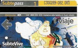 BILLET TICKET  TRANSPORT METRO BUENOS-AIRES ARGENTINE 1 BILLET ART MURAL STREET ART  SUBTE VIVE - Metro