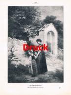 1859 U. Lüben Waisenkinder Friedhof Kinder Druck 1905 !! - Estampes