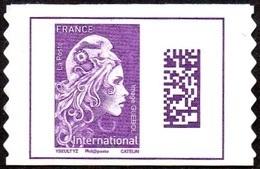 France Autoadhésif N° 1656 ** Marianne L'Engagée - Datamatrix International PRO (verso Blanc) - France