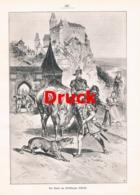 1862 Chr. Votteler Weilburg Weilburger Schloss Burg Druck 1899 !! - Estampes