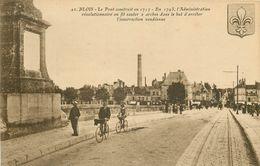 SL Promotion 10 Cpa 41 BLOIS. Pont Marché Rue Denis-Papin Château Pensionnat, Abside Quai Content Statue Terrasse - Blois