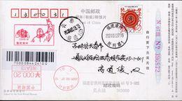 CHINA CHINE CINA POSTCARD FUJIAN ZHANGZHOU TO JILIN CHANGCHUN  WITH ANTI COVID-19 INFORMATION - China