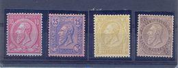 Nrs. 46+48+49+50 MH *  70 Côte 2 Scans - 1884-1891 Leopoldo II