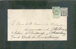 N°53 PO BRUXELLES 1899 Sur Imprimé (Faire-part De Deuil Du Baron GERICKE D'HERWIJNEN, Ministre D'Etat) Le 11 Mai 1899 Ve - Precancels