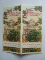 MACAU. OLDEST FOREIGN COLONY IN FAR EAST. FOUNDED IN 1557 - CHINA, 1949. MACAO. COLOUR MAP. - Toeristische Brochures