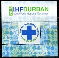 XB0825 South Africa 2016 World Hospital Conference M - Unused Stamps