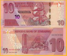 Zimbabwe 10 Dollars P-new 2020 UNC Banknote - Zimbabwe