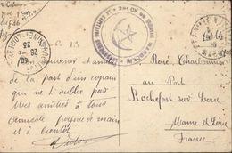 Cachet Militaire 2e Compagnie Génie Marocain Capitaine Commandant Illustré étoile Croissant CAD Fez Maroc 1923 CP Fez - Morocco (1891-1956)