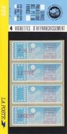 Plaquette De 4 Vignettes D'Affranchissement (PNU, Lettre, Urgent, 2,10), Neuf ** - 1990 «Oiseaux De Jubert»
