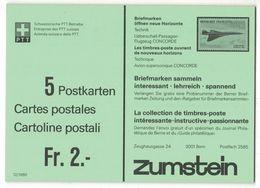 """IZ790   Carnet Complet De 5 Cartes - 2f  (40ct) Croix, Neuves ** Réclame """"Saba Vidéo"""" Au Verso. - Stamped Stationery"""