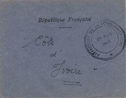 Kuvert Prefecture De La Loire Inferieure - 29.4.1945 - France