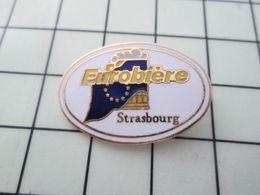 516a  Pin's Pins / Beau Et Rare / THEME : BIERES / EUROBIERE STRASBOURG DRAPEAU EUROPEEN ça Fait Pas Rêver ! - Bière