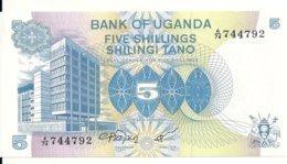OUGANDA 5 SHILLINGS ND1979 UNC P 10 - Uganda
