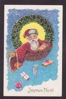 CPA Père Noël Santa Claus Paillettes En Relief écrite - Santa Claus