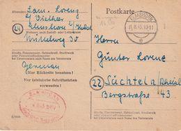 ALLEMAGNE 1945 ZONE AAS  CARTE DE ELMSHORN EN PORT PAYE - Gemeinschaftsausgaben