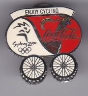 PIN DE COCA-COLA DE LAS OLIMPIADAS DE SYDNEY 2000 - ENJOY CYCLING - CILCLISMO (COKE) OLYMPIC GAMES - Coca-Cola