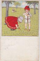 Pauli EBNER - Enfants à La Cueillette De Fruits - Ebner, Pauli