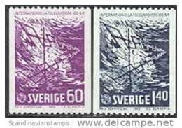 ZWEDEN 1965 100 Jaar U.I.T Serie PF-MNH - Nuevos
