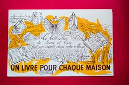 Buvard BIBLIOBUS De Seine Et Oise, Livre - Cartoleria
