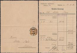 Germany - Infla. MiNr. 327 EF Kartenbrief, Städtische Sparkasse - NEHEIM 15.11.1923. - Germany