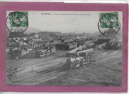 88.- EPINAL .- Vue D' Ensemble De La Gare Et Des Rotondes (Locomotive ) - Epinal