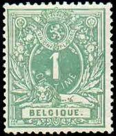 N°26 -Petit LION1 Centime Vert, TB Centrage Et VariétéPoint Blanc à Gauche Du Chiffre 1', Xx. COB. 165 Euros. -TB - - 1869-1888 León Acostado