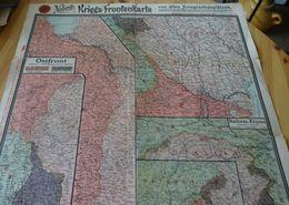 KRIEGS-FRONTENKARTE Mai 1917 ( Ostfront Italien Front Westfront., Verdun...) - Altri