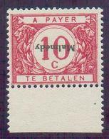 OC N°80 -Dr. - TAXE 10 Centimes SurchargéMalmédyrenversé, Avec Bdf Et Xx. COB. 250 Euros. Pas Courant. -TB - 15688 - Errors And Oddities