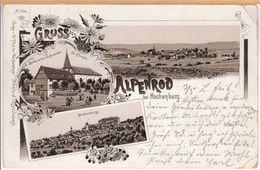 Litho Lithografie Alpenrod (Hachenburg, Westerwald) Restauration Schneider 1900 - Westerburg