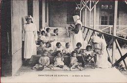 Enfants Children Sanatorium Kerpape Ploemeur Sanatorium Pour Les Malades Atteints De Tuberculose CPA Le Bain De Soleil - Lorient