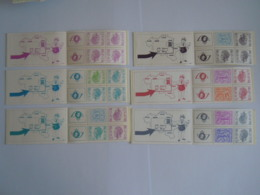 België Belgique 6 Postzegelboekje Carnet Boudewijn Baudouin Type Elstrôm B10 B11 B12 B13 B14 B15 MNH ** - Carnets 1953-....