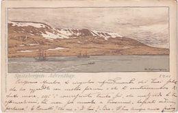 Spitzbergen - Adventbay - Signiert - 1901 - Kunstdr. Künstlerbund, G.Braunsche Hofbuchdruckerei    (200609) - Norwegen