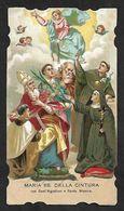 Santino/holy Card: MARIA SS. DELLA CINTURA Con S. AGOSTINO E S. MONICA - E - PR - Religione & Esoterismo