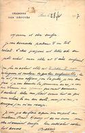 Lettre / Autographe Ecrivain Maurice BARRES 28/02/1917 + CPA - Handtekening