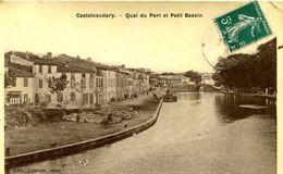 CASTELNAUDARY = Quai Du Port Et Petit Bassin  (carte Glacée Couderc)  1934 - Castelnaudary