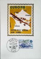 Avion  CAUDRON SIMOUN Aviation Postale  - Carte Maximum Card (Paris-Europa CEPT) 1979 - Airplanes