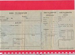 Giro Telegrafico Y Telegrama Ca. 1920 Documentos En Blanco Lot De 2 Documents Postaux Vierges Télégramme Et Virement Tél - Spain