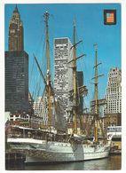 ETATS UNIS.- NEW YORK.- Rio Hudson. Lado Oeste. ( Coleccion Cinco Cintinentes De Postales Escudo De Oro, España) - Hudson River
