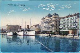 FIUME ( Rijeka ) ... Riva Szapary ( Croatia ) * Travelled 1918. * Ship Steamer Steamship Dampfer Schiff Pirosfaco Navire - Croatia