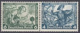 DR  W 47, Postfrisch**, Nothilfe: Wagner 1933 - Se-Tenant