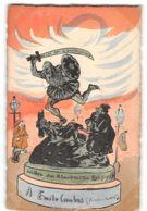 CPA Dessin De Leal De Camara Aquarellée Main Le Carillon N°17 Leur Statue Emile Combes - Satiriques