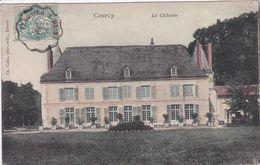 51 COURCY Le Château ,marcophilie Cachet Convoyeur Ambulant Ligne De Chemin De Fer Tergnier Reims - Altri Comuni