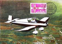AVIATION Avion JODEL-WASSMER D. 120- Carte Maximum Card (78 Toussus Le Noble) 1962 - Toussus Le Noble
